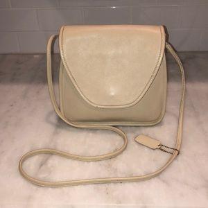 Coach Vintage Lindsey Cream Leather Crossbody Bag